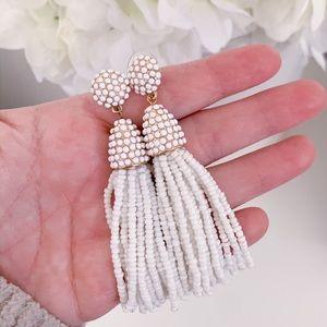 Baublebar White Piñata Tassel Earrings